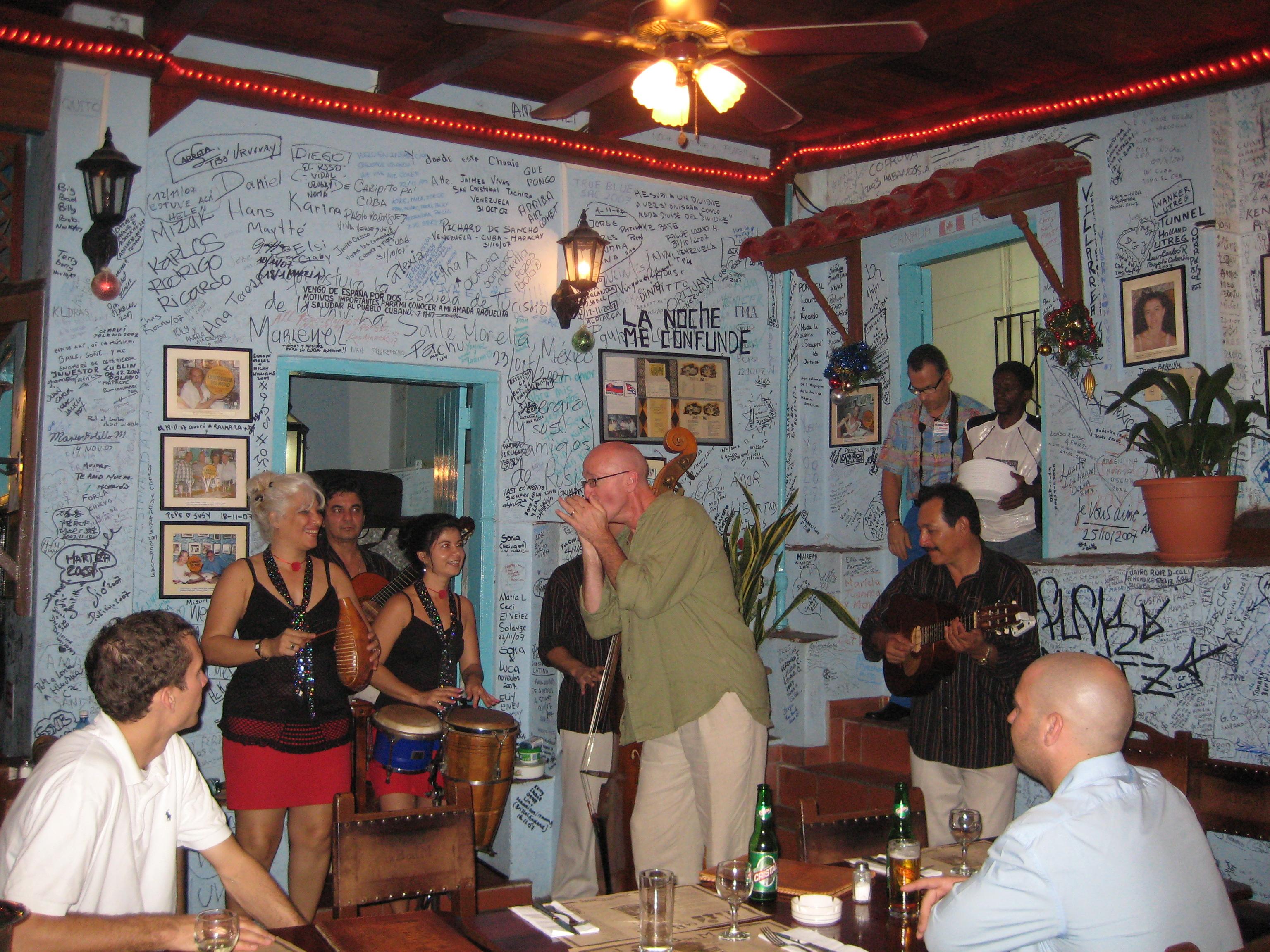 Harris jamming at Del Medio in Havana, Cuba